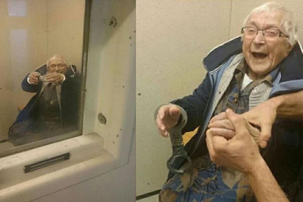 Diese 99-jährige Dame ließ sich freiwillig verhaften