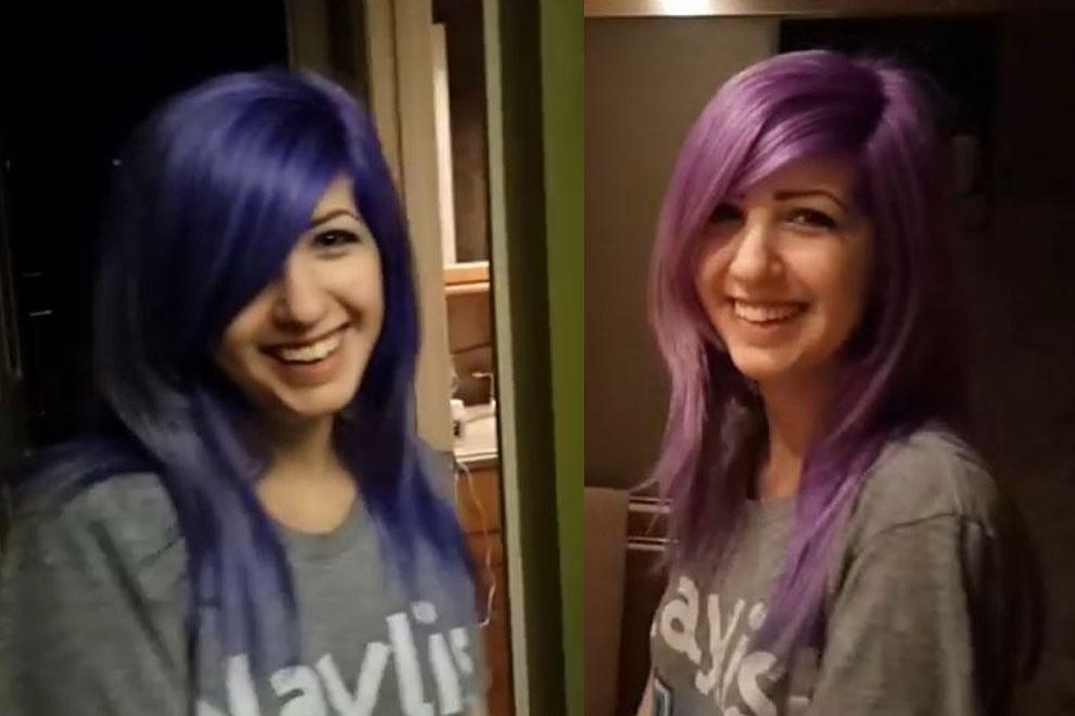 Dieses Mädchen kann seine Haarfarbe ändern