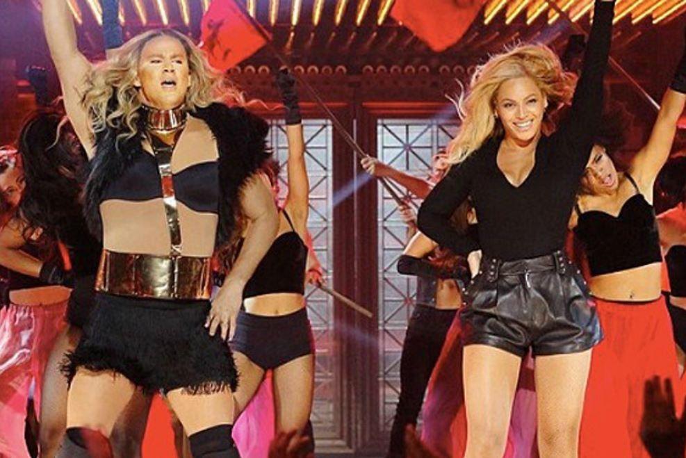 So rockt er als Beyoncé-Double die Bühne