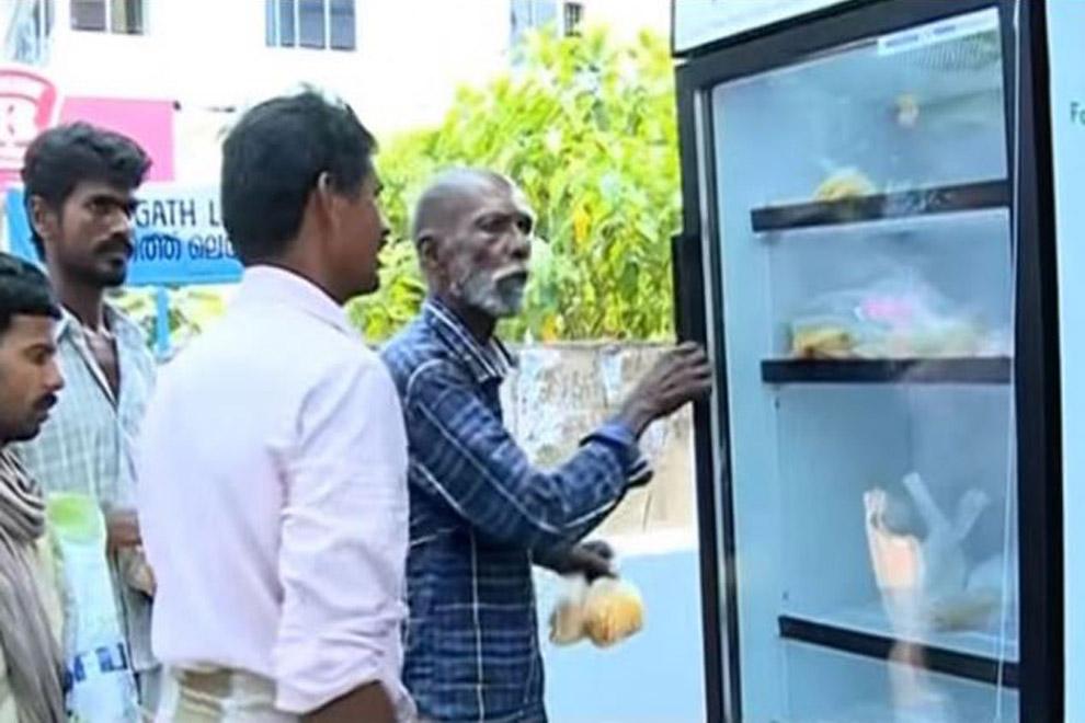 Restaurantbesitzerin installiert öffentlichen Kühlschrank für Obdachlose