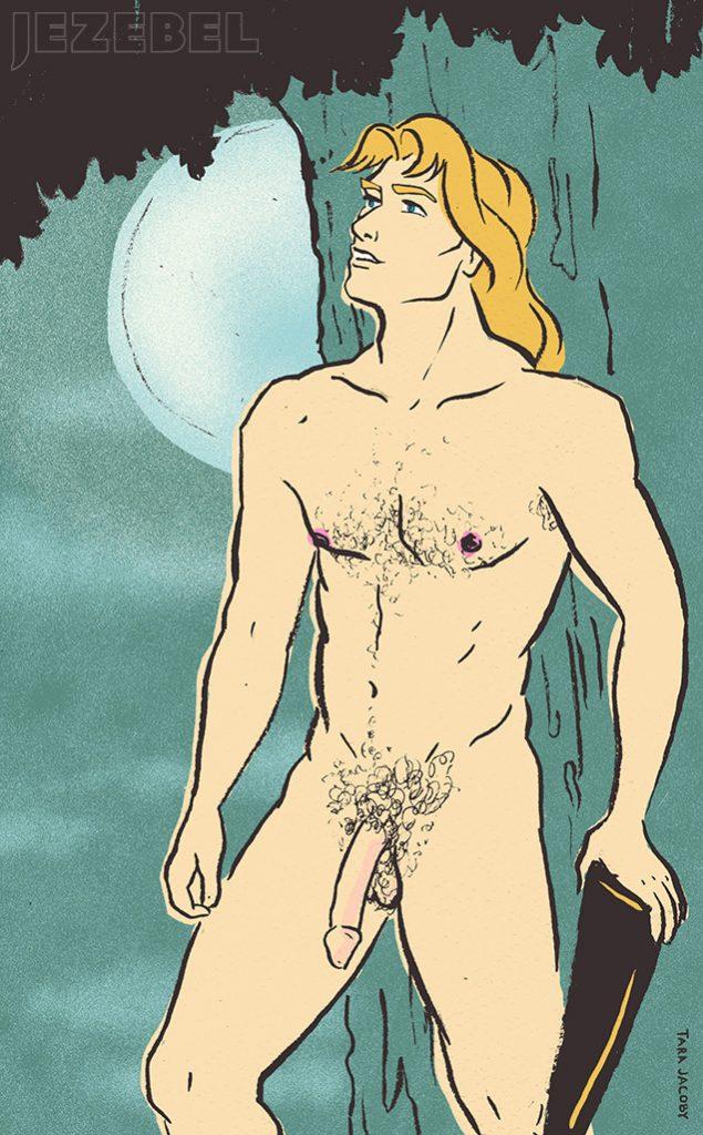 John Smith aus Pocahontas: Der stattliche John Smith hat einen riesigen, unbeschnittenen Penis (weil er Amerikaner ist). Da er im Wald lebt, mag er es auch unten rum unrasiert und natürlich.