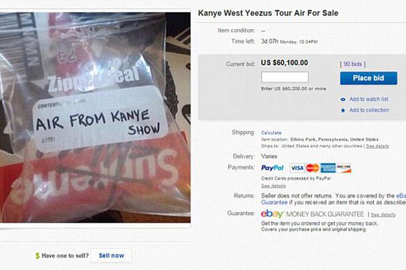 Konzertluft für 60.000 Euro auf ebay versteigert