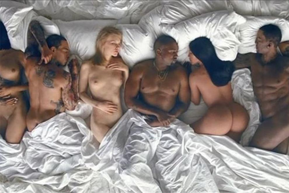 Deshalb kuschelt Kanye West nackt mit Donald Trump, Taylor Swift und Anna Wintour