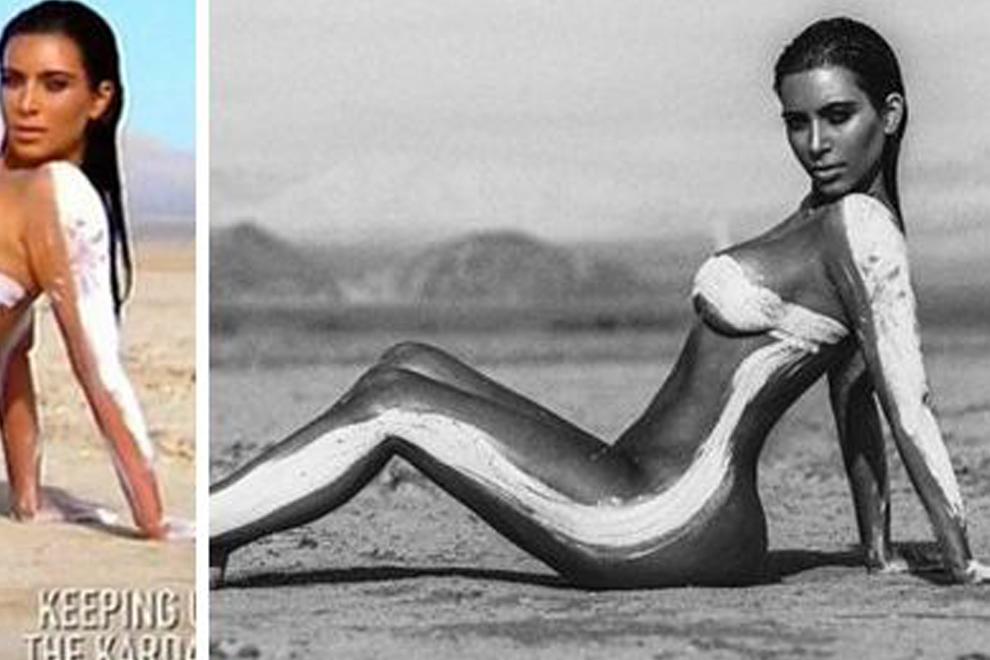 So sehen Kim Kardashians Nackt-Bilder unretuschiert aus