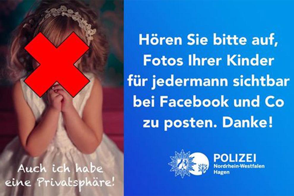 """""""Hören Sie auf, Fotos von Kindern auf Facebook zu posten!"""""""