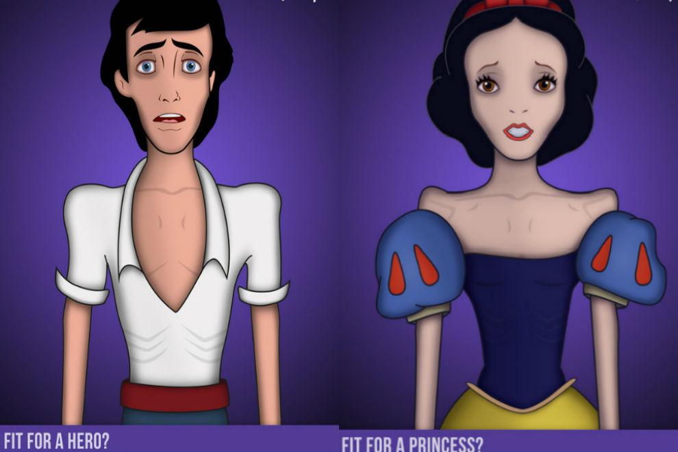 Künstler macht mit Disney Figuren auf Magersucht aufmerksam