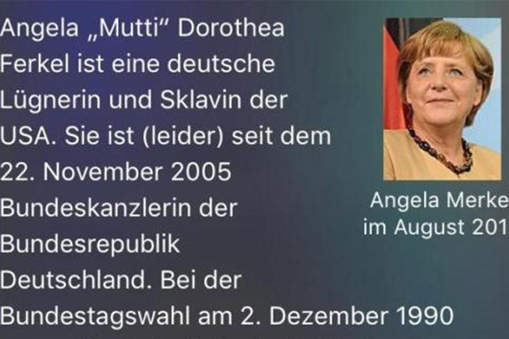 iPhone-Sprachassistent Siri beleidigt Angela Merkel
