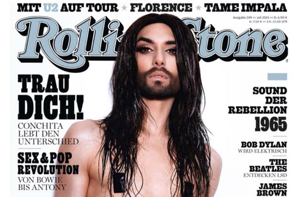 Conchita Wurst am neuen Rolling-Stone-Cover