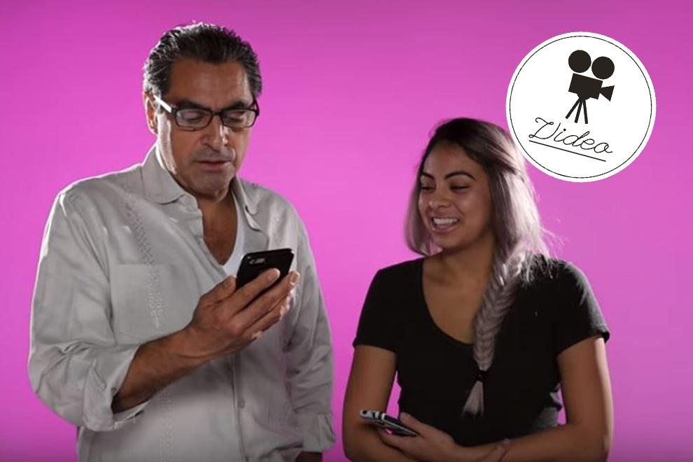 Hier lesen Väter die Textnachrichten ihrer Töchter