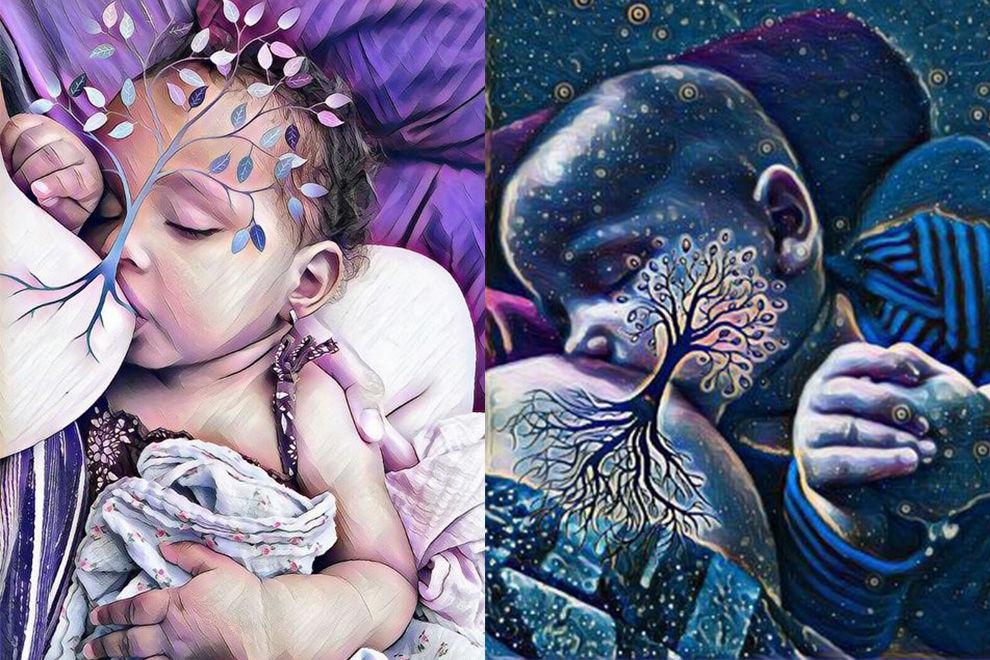 Mamas verwandeln ihre Still-Fotos in Kunst