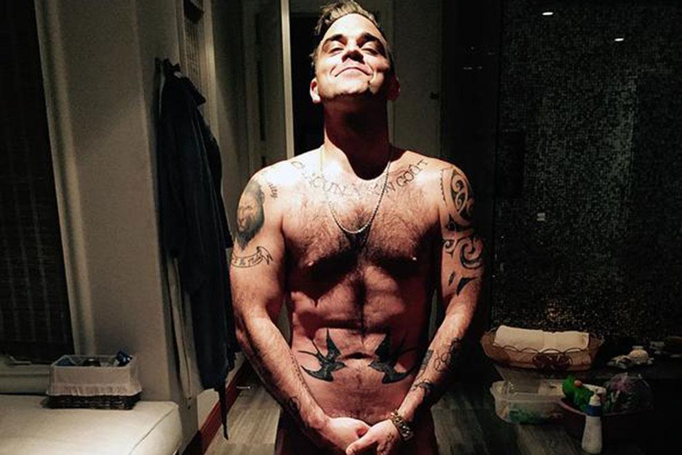 Robbie Williams will mit Nacktfoto das Internet zerstören