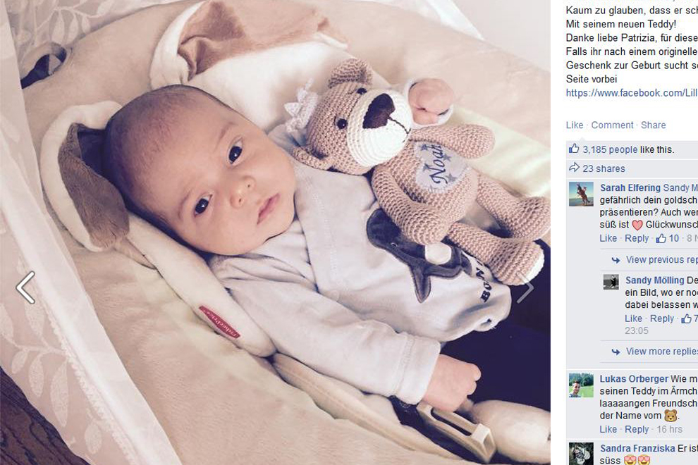 Sandy Mölling zeigt ihr Baby