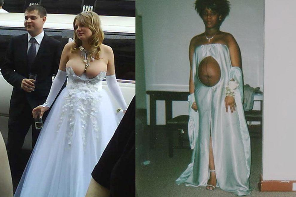 Die schrecklichsten Hochzeitskleider