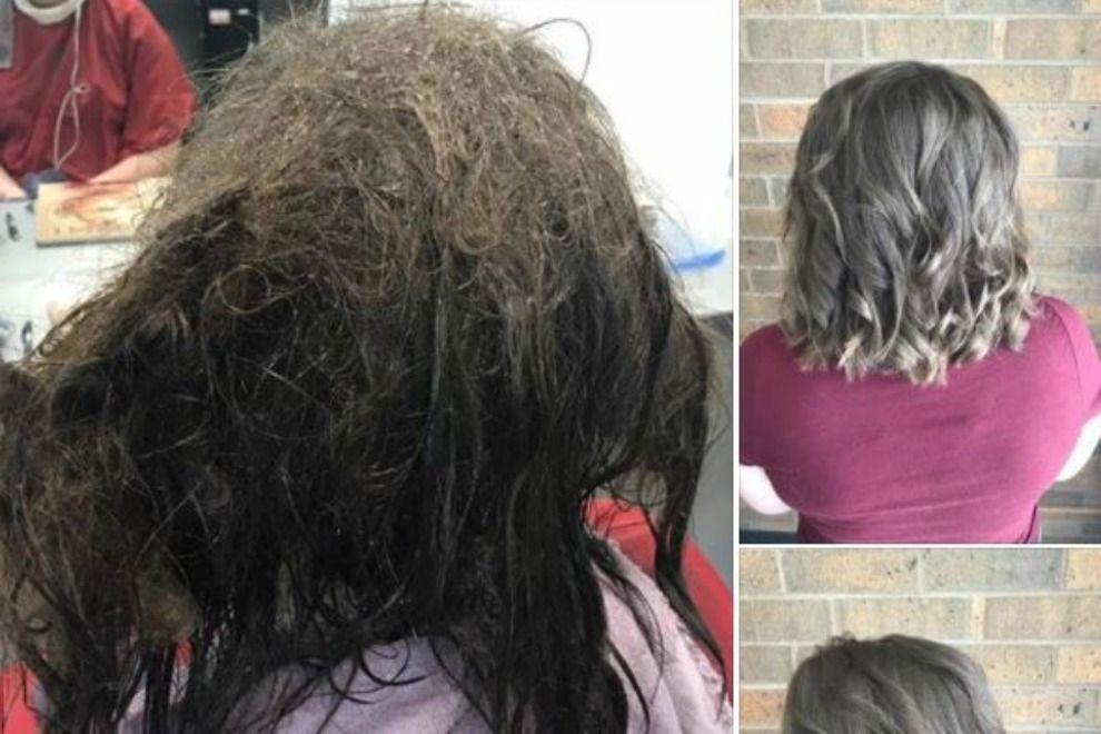 Frisörin weigert sich, einem depressiven Mädchen die Haare abzuschneiden