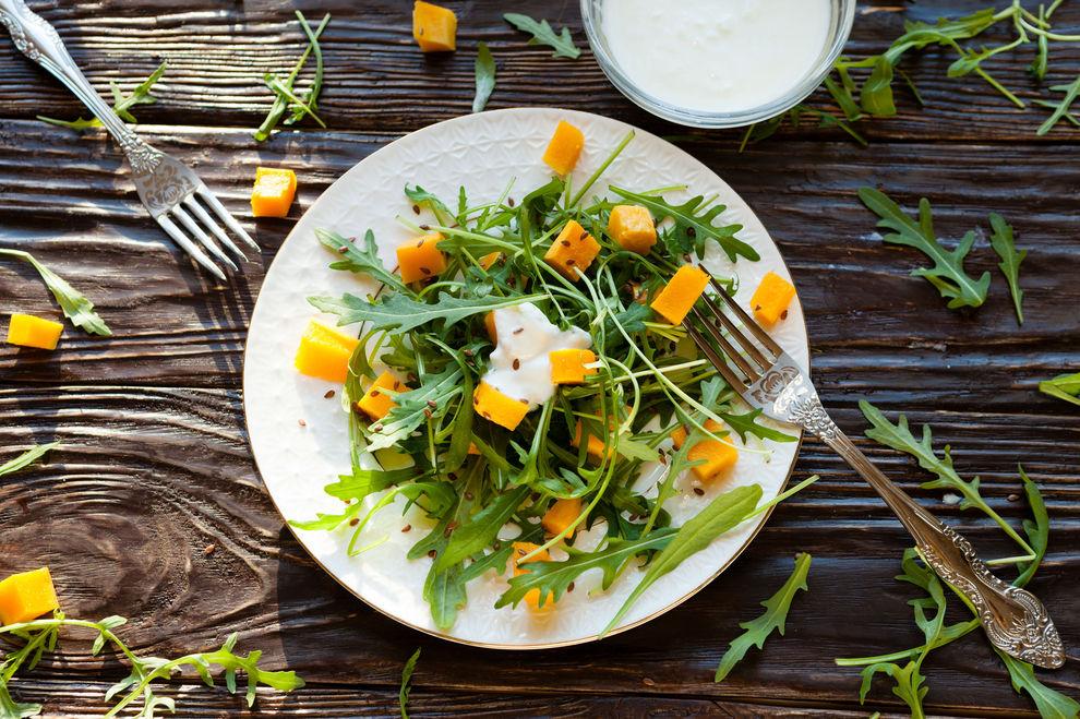 Herbstlicher Birnen-Kürbis-Salat – Rezept