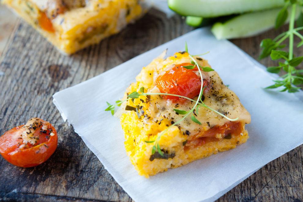 Polenta-Zucchini-Gratin