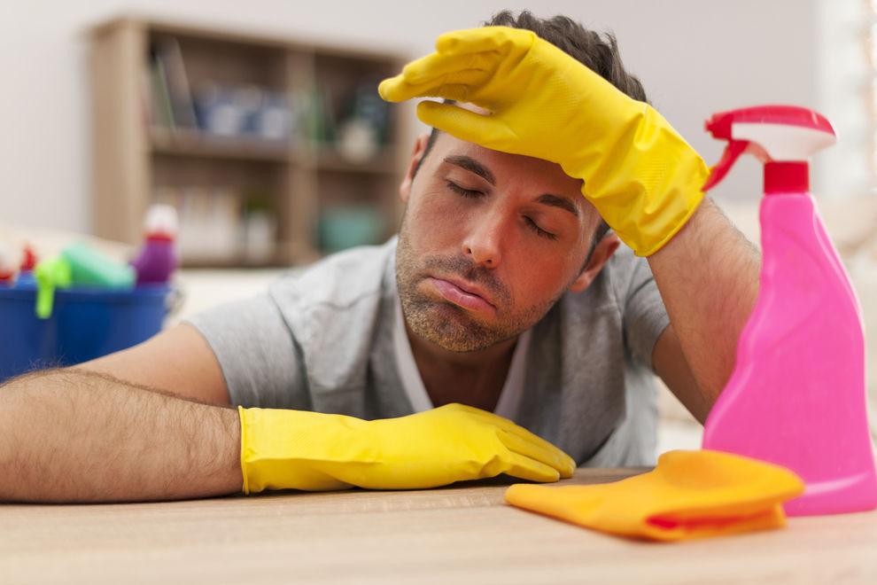 Männer, die putzen, sterben früher