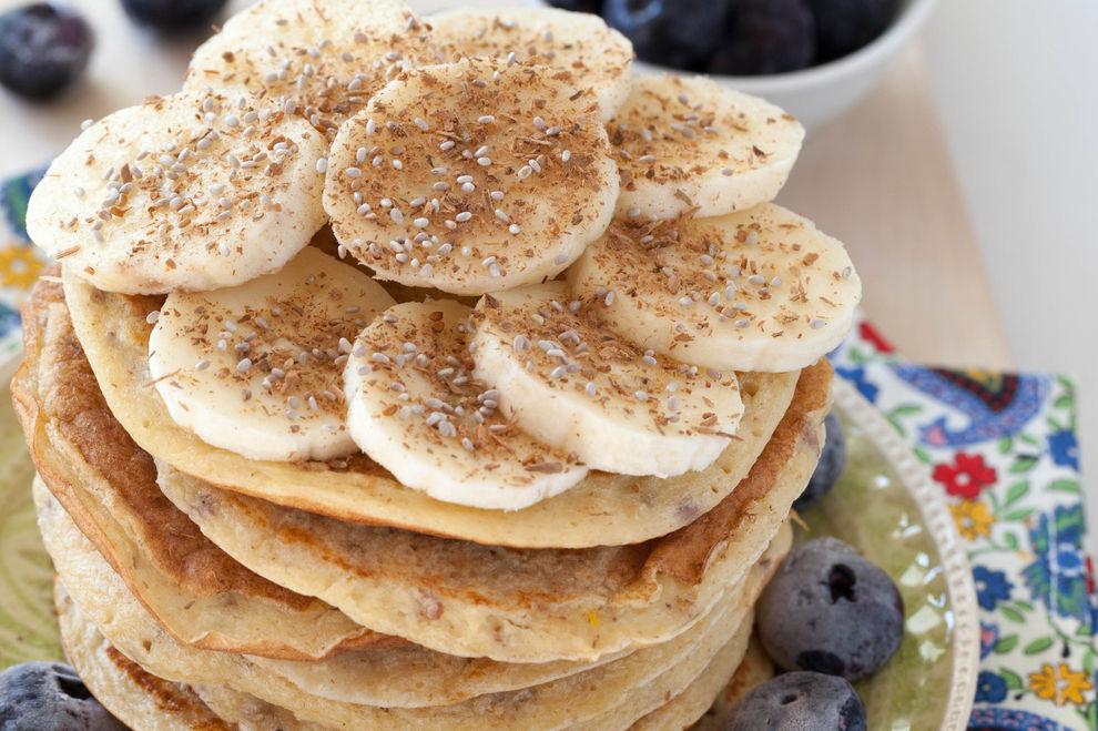 Chia-Bananen-Pancakes ohne Mehl