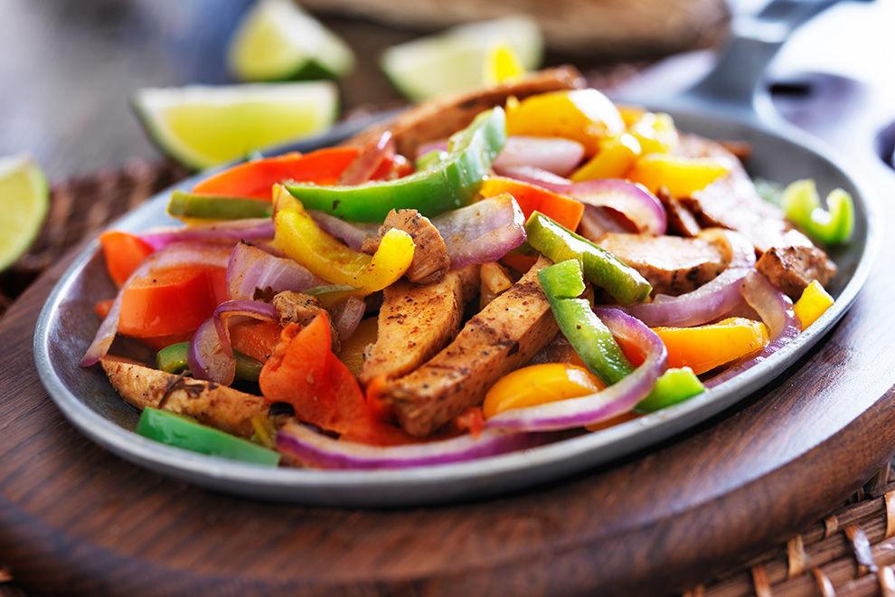 Chili-Paprika-Pfanne mit Huhn