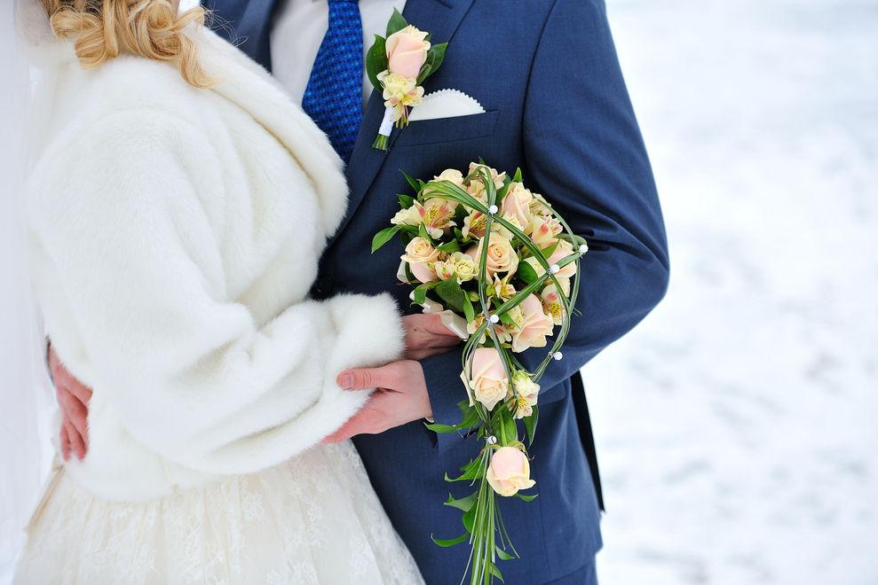 Dieses Brautpaar wurde von einem weißen Wunder überrascht