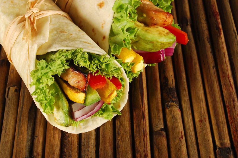 Chicken-Avocado Wraps