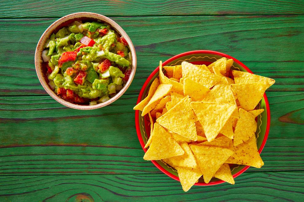 Vegetarische Nacho-Platte