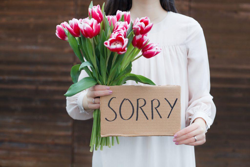 So entschuldigt man sich richtig