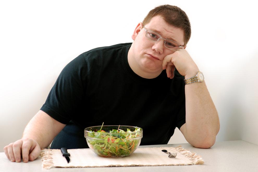 Vegane Männerwerden unglücklich