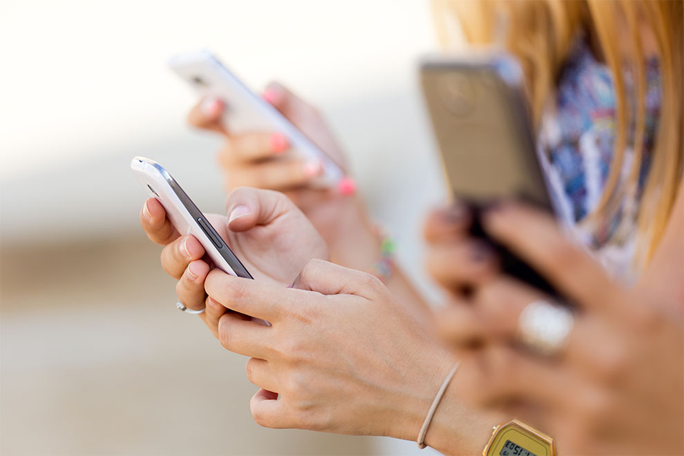 Smartphones verursachen Falten
