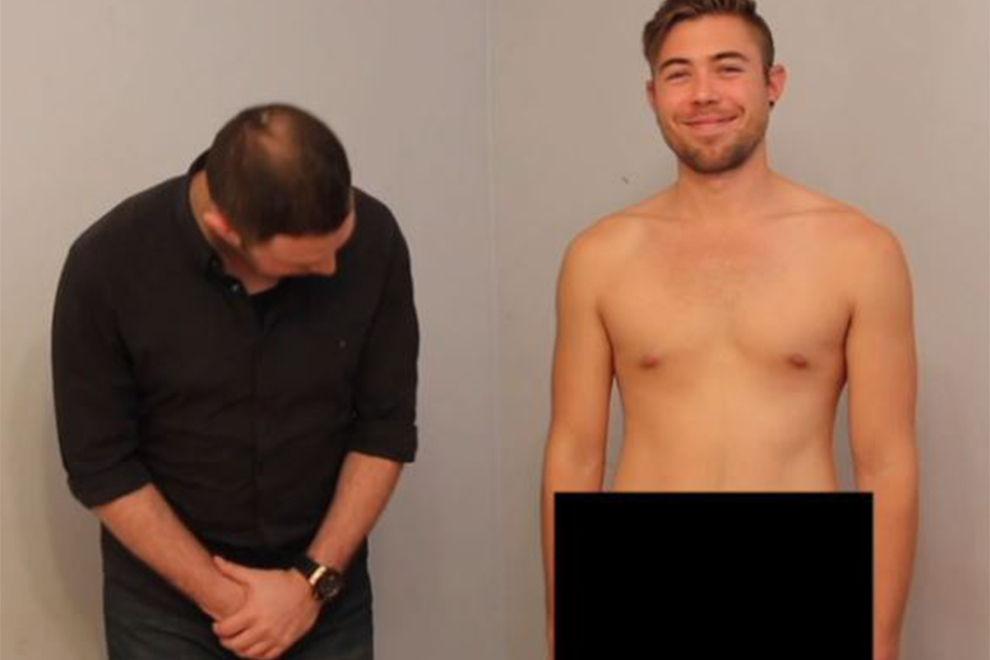 Männer berühren das erste Mal einen fremden Penis