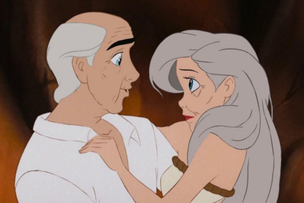 Wenn Disney-Paare miteinander alt werden