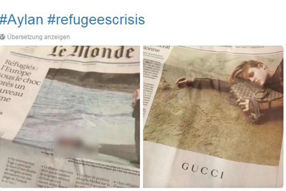 """Le Monde"" zeigt toten Flüchtlingsjungen neben Gucci-Tasche"