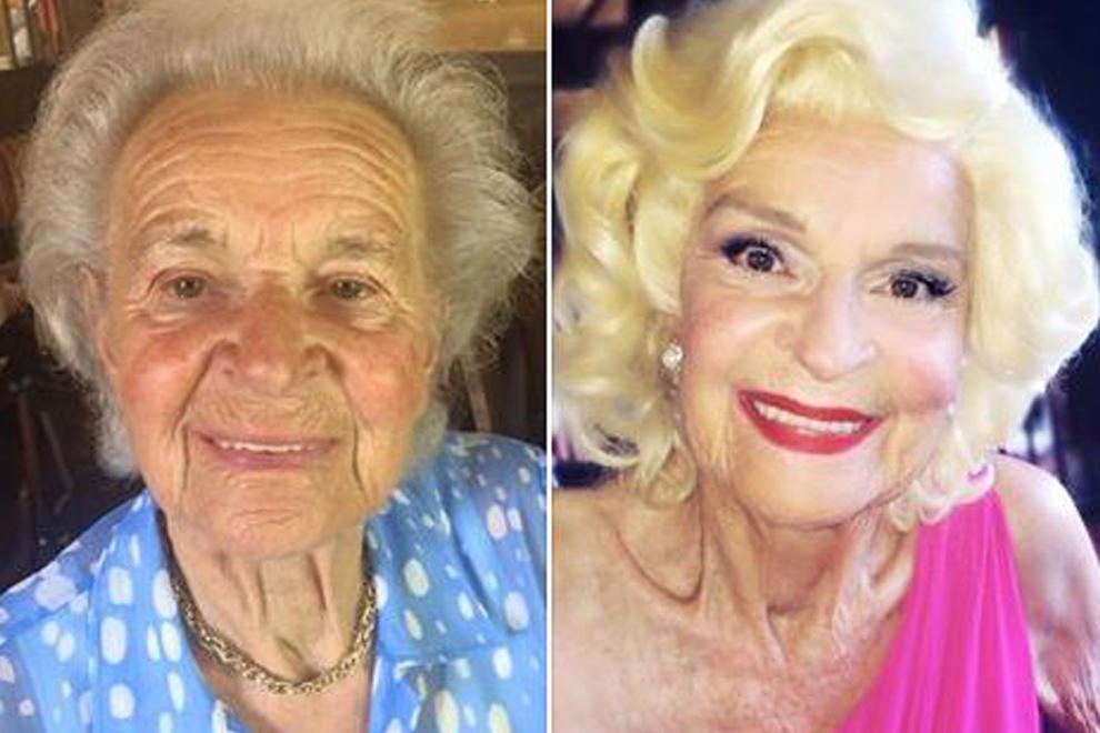 Großmütter posieren als Filmstars