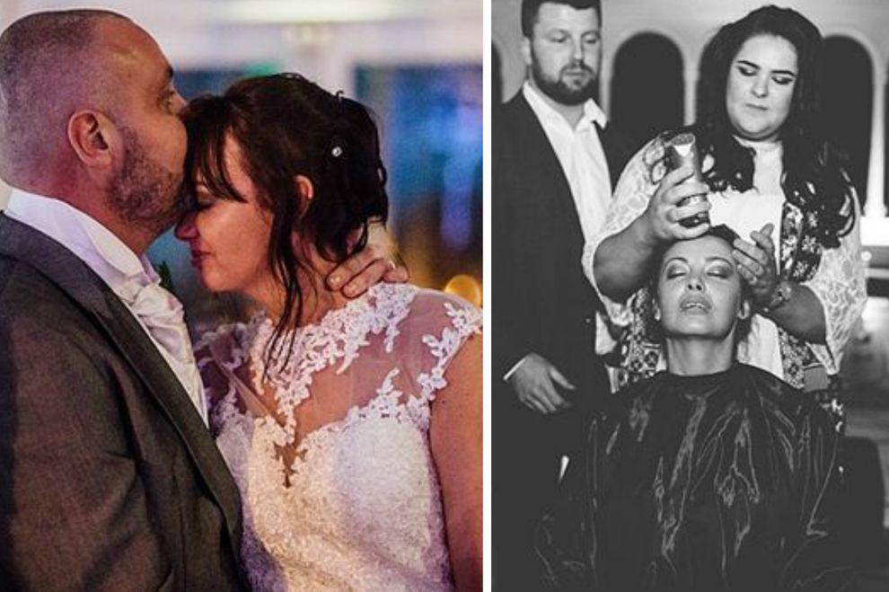 Deshalb hat sich diese Braut bei ihrer eigenen Hochzeit die Haare abrasiert