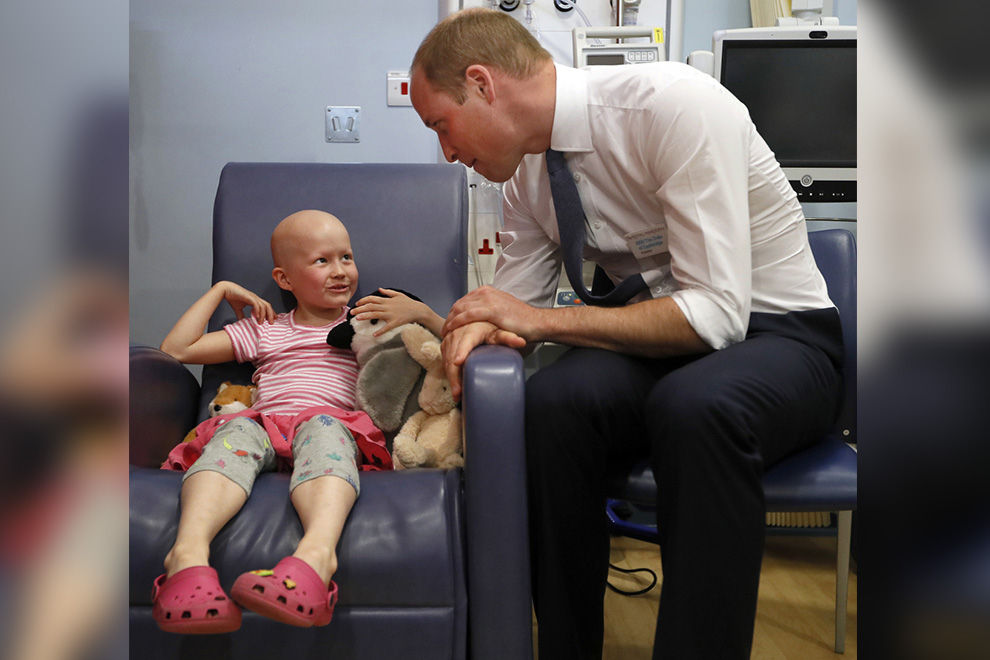 Prinz William besuchte kleine Krebspatientin