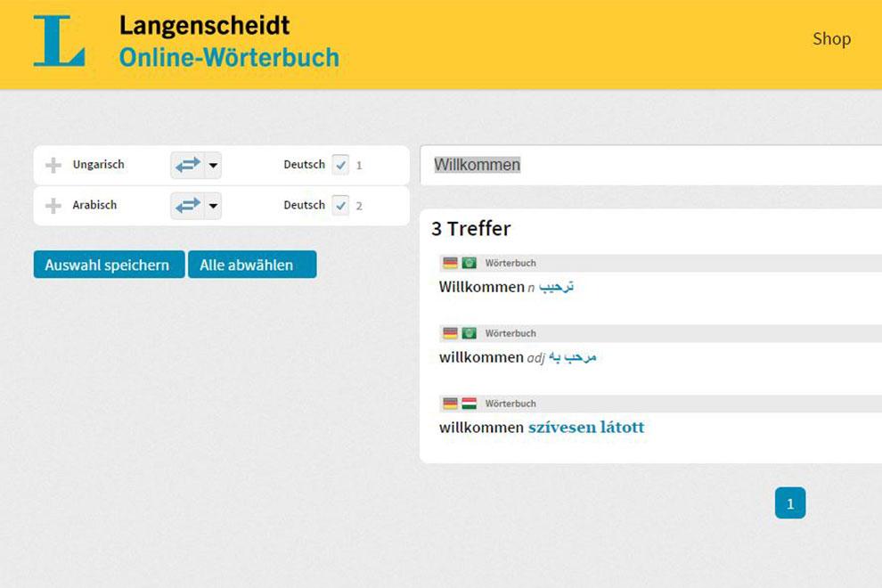 Langenscheidt ermöglicht kostenlosen Zugang zu Online-Arabisch-Wörterbuch