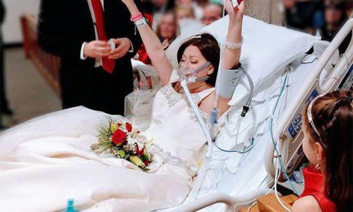 Diese Frau heiratete wenige Stunden vor ihrem Tod