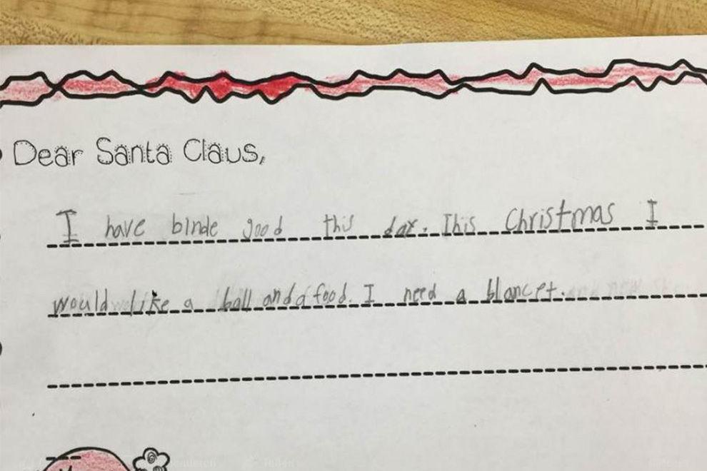 """7-jähriges Mädchen wünscht sich """"Decke und Essen"""""""