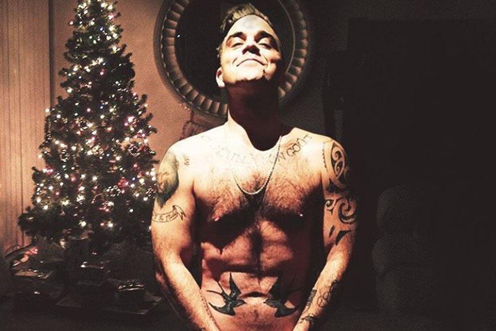 Robbie Williams postet ein festliches Nacktbild