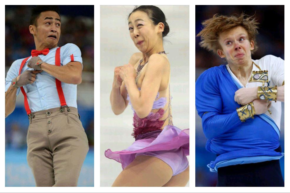 Pyeonchang: Die 20 lustigsten Grimassen der Eiskunstläufer