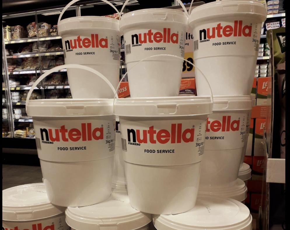 Nutella-Eimer: Nutella gibt es jetzt im 3-Kilo-Kübel