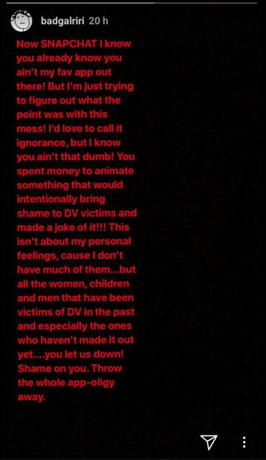 Rihanna im Streit mit Snapchat