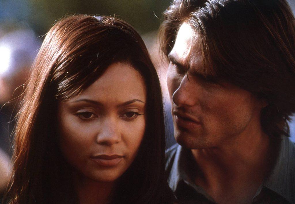 """Thandie Newton spiele in """"Mission Impossible II"""" die Flamme von Tom Cruise. Sie beschwerte sich, dass die Kusszenen zu feucht waren und zu oft wiederholt werden mussten."""