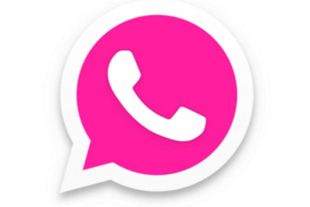 So lässt sich das grüne WhatsApp-Logo pink einfärben