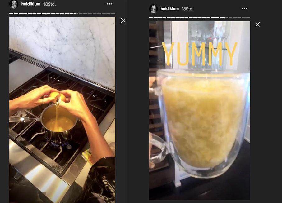 Heidi Klum Instagram Frühstück
