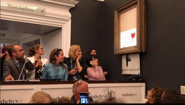Banksy lüftet das Geheimnis: So konnte sich das Bild selbst zerstören