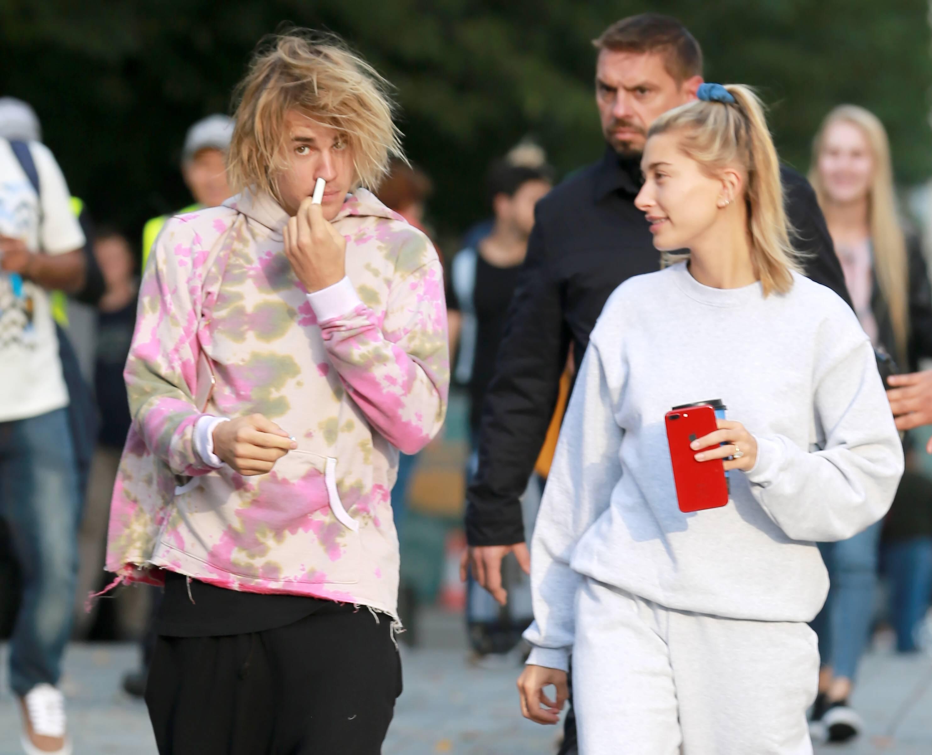 Justin Bieber und Hailey Baldwin nicht gerade glamourös