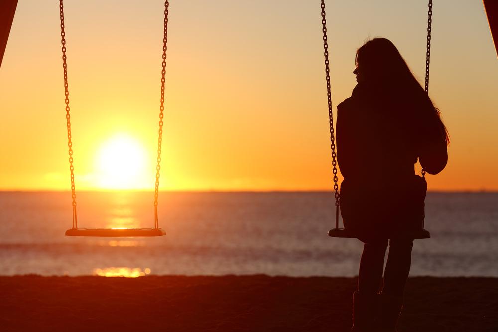 allein sein können