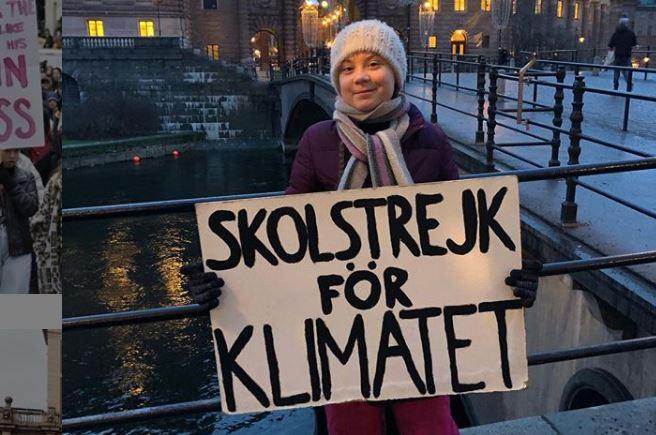 16-jährige Klimaaktivistin reist 25 Stunden per Zug zu WEF 2019