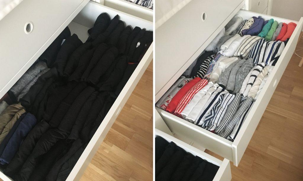 Kleiderschrank wie Marie Kondo